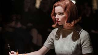 Actress Anya Taylor-Joy, who plays Beth Harman, in a scene of The Queen's Gambit