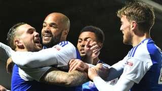 Ipswich celebrate goal