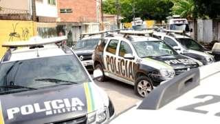Carros da PM do Ceará