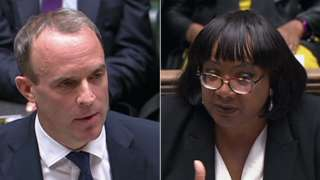 Dominic Raab and Diane Abbott