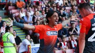 Yan Dhanda celebrates his winning goal