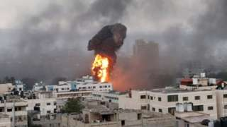 The Israeli military says its strikes on Gaza are the largest since 2014