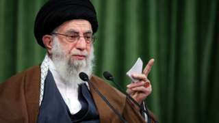Ayatollah Ali Khamenei gives a speech in Tehran, Iran (3 November 2020)