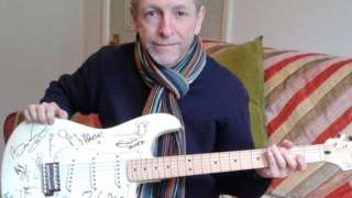 David Allen and signed guitar