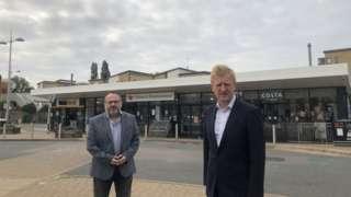 Councillor Morris Bright and Oliver Dowden MP