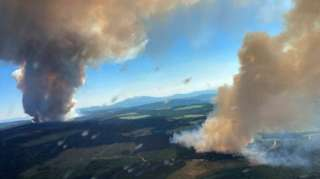 Fires in British Colombia