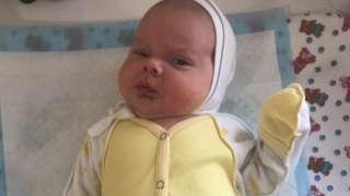 Manuel, el bebé de Flavia y José.