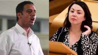 Anas Sarwar and Monica Lennon