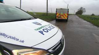 Police at scene of Ardington Wick car fire