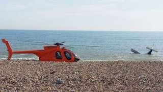 Air crash off Shoreham