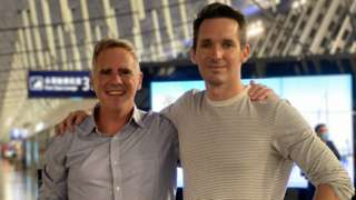 Mike Smith and Bill Birtles departed from Shanghai on Monday