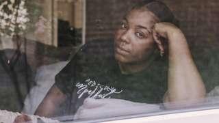 Jade Gray-Christie through the window