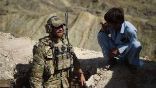 Солдат армии США в Афганистане