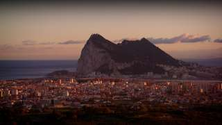 Gibraltar as seen from Spain
