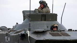 Lính Nga đã và đang tập trận tại Crimea