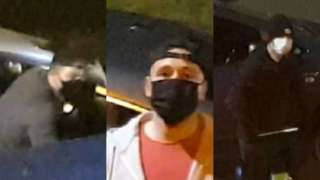 Images of suspects in catalytic convertor theft
