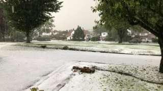 Freak storms in Guiseley