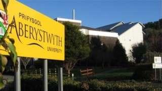 Aberystwyth University sign