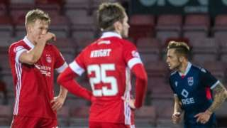 Aberdeen players disappointed