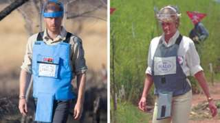 Prince Harry, like his mother 22 years before him, is walks through a minefield in Angola