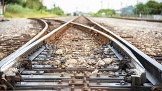 Stock image of a railway track