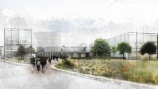 Artist impression of new Velindre Cancer Centre