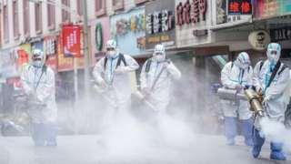 Кытайда көчөлөрдү дезинфекциялоо дале уланууда