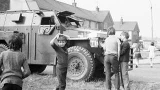 An image of children during the Troubles