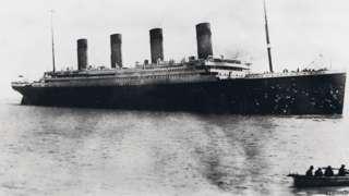The Titanic leaves port