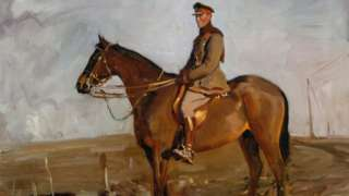 Painting of Warrior and Gen Jack Seeley by Sir Alfred Munnings
