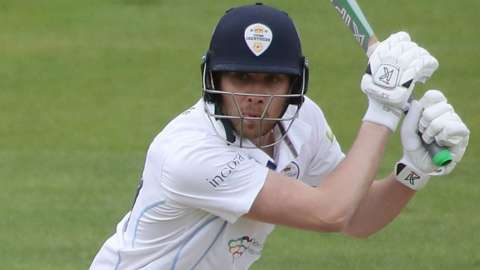 Matt Critchley's second half-century of the match helped Derbyshire stave off the possibility of defeat by Warwickshire at Edgbaston
