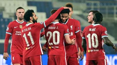 Diogo Jota scores a second for Liverpool