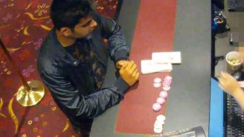 Qaiser at a casino
