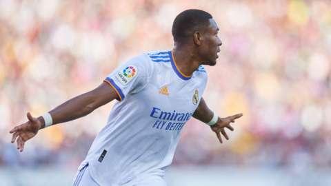 David Alaba scores for Real Madrid