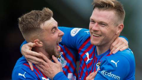 Inverness scorers Lewis Jamieson and Billy Mckay