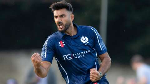 Safyaan Sharif took four wickets for Scotland