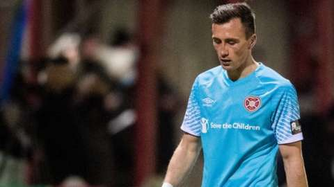Hearts' Aaron McEneff during the defeat to Brora Rangers