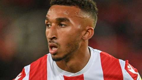 Jacob Brown headed Stoke City level just three minutes after Huddersfield had gone ahead