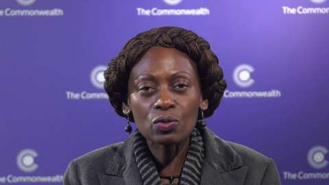 Dr. Josephine Ojiambo speaking in a Commonwealth video for Youth Week