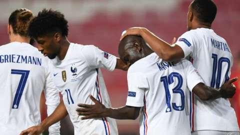 France players celebrate