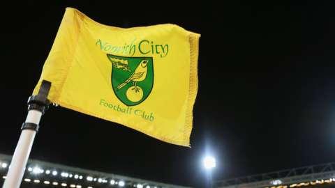 Norwich City Footbal Club corner flag