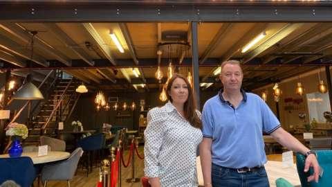Scott Humphreys, boss of Peppermill Interiors, and the firm's marketing manager Emma Gardner.