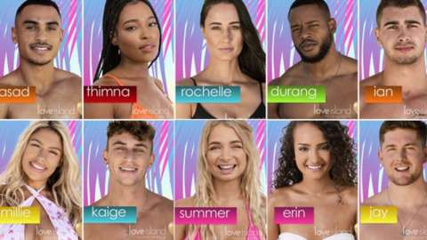 Composite picture of Love Island contestants