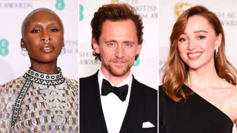 Cynthia Erivo, Tom Hiddleston and Phoebe Dynevor