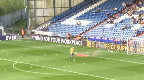Oldham Athletic fans protest