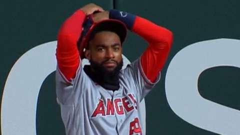 Los Angeles Angels right fielder Jo Adell