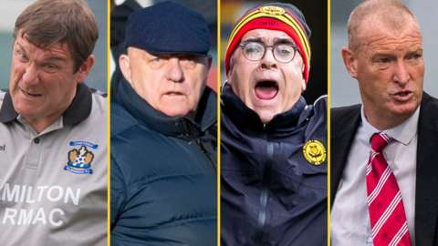Tommy Wright, Dick Campbell, Ian McCall, Brian Rice