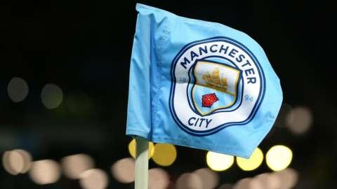 A Manchester City corner flag