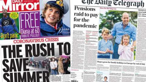 Daily Mirror and Daily Telegraph