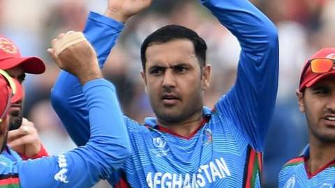 Mohammad Nabi played for Afghanistan in England at the 2019 Cricket World Cup